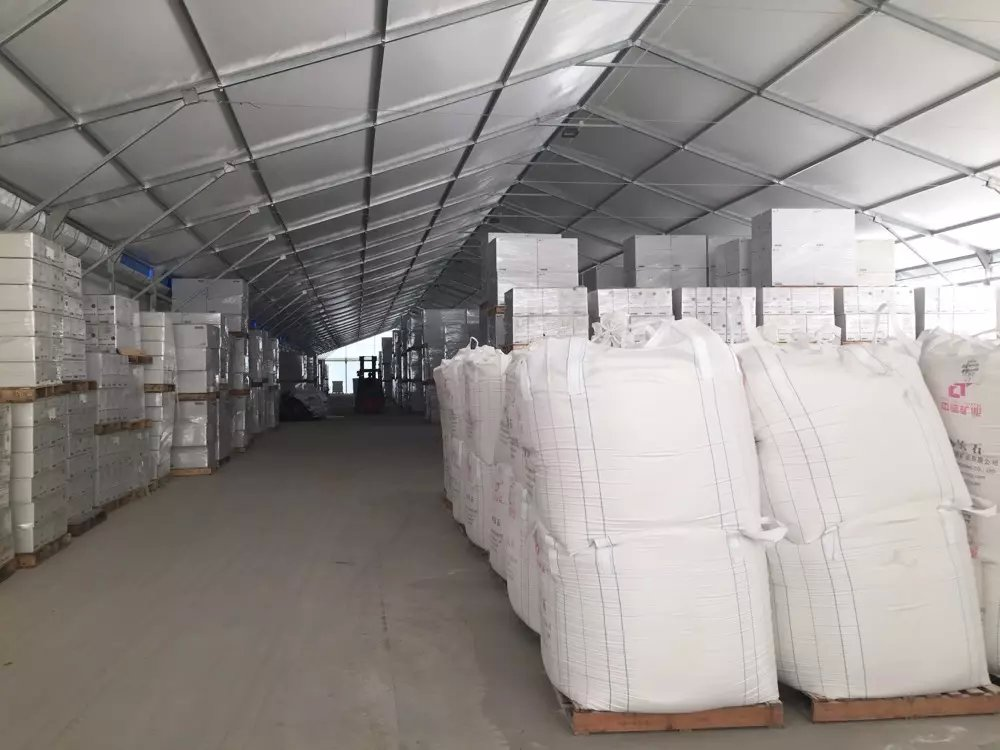 motorcycle temporary warehouse industrial storage large tent