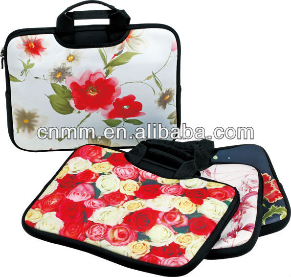 Hot Flowers Neoprene laptop Sleeve With handle