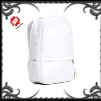 Wholesale canvas plain snow white backpack trendy fashion elegant fancy small lady backpack