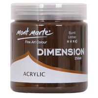 Mont Marte Dimension Acrylic Paint 250mls - Burnt Umber
