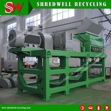 75Kw ELectrical Recyced Rubber Mulch Machine For Used Tyre With Siemens Motor