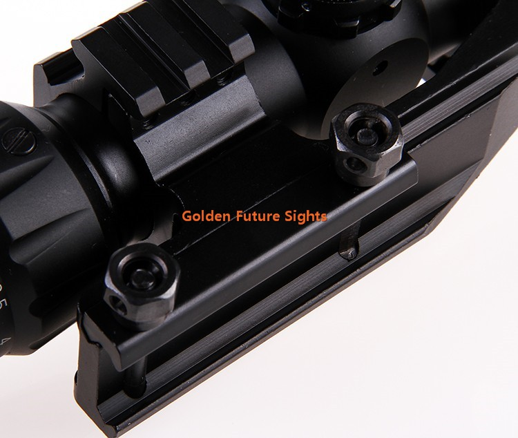 1.5-4x30 tri-color illuminated Reticle Hunting RifleScope with Horse Shoe Prism reticle
