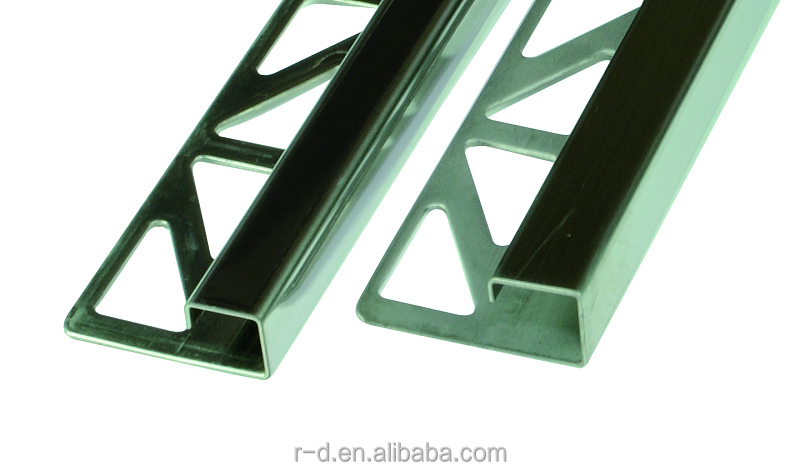 Stainless Tile Corner Trim Window Materials Profile Square Shape