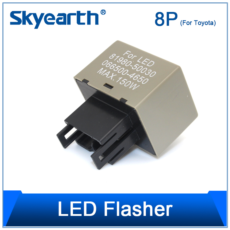 LED warning canceller LED flasher turn signal flash relay 8pin for toyota corolla cars