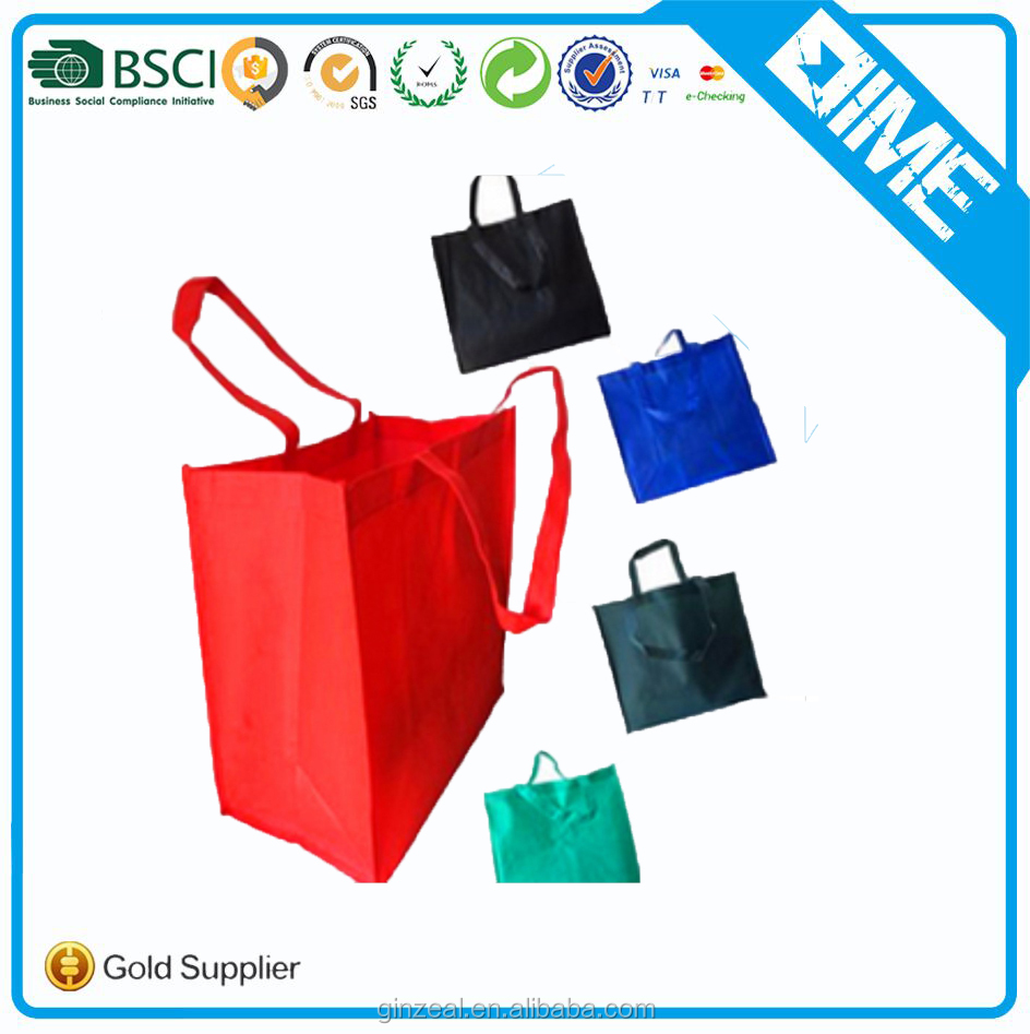 Custom 70gsm/80gsm/90gsm friendly fabric non woven bag for shopping