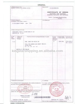 Libya Embassy Certification And Certificate Of Free Sale  Blank Certificate Of Origin