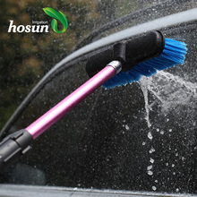 Microfiber electric truck soft bristle soap dispensing foam automatic cleaning car wash brush with long handle