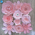 March Expo Pink New color paper flower wall for wedding or shopping mall decoration