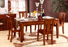 Antique style popular hot sell wood plank dining table and chair/ factory wooden dining furniture/ dining table and chair