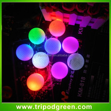China Hot Selling Colorful 3 Layer Luminous Golf Ball with Led Light