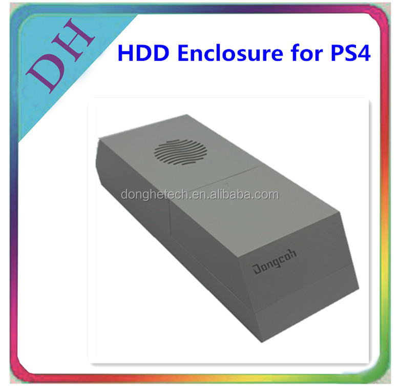 White hdd enclosure for PS4, perfectly match with white PS4 console supporting hard disk drive 3.5 inches