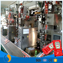 Sachet ketchup packets processing machine
