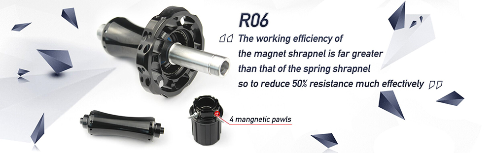 Yuan'an R06 11 Speed Road bike Hub Low resistance Bicycle hub with Ceramic bearing