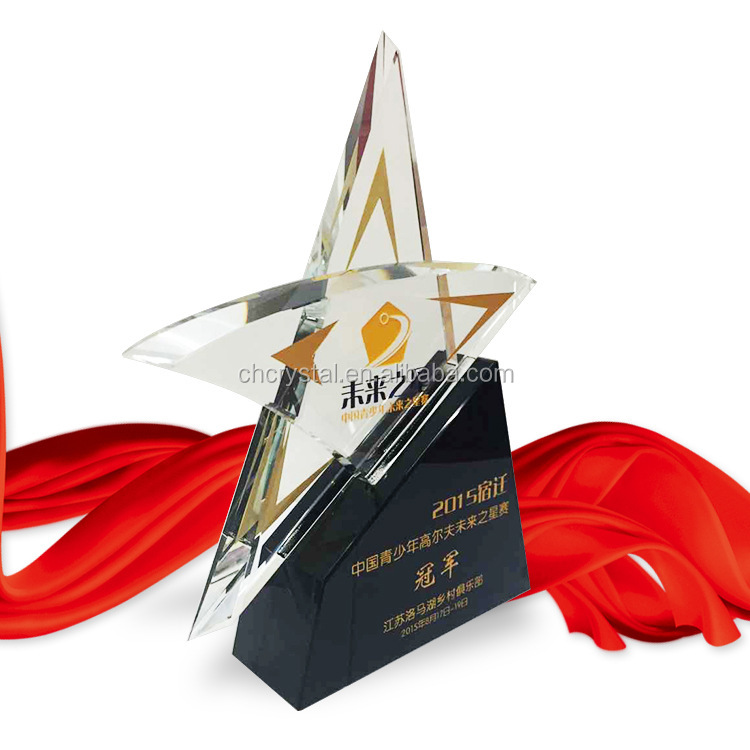Crystal star Awards Trophy Plaques MH-NJ00382