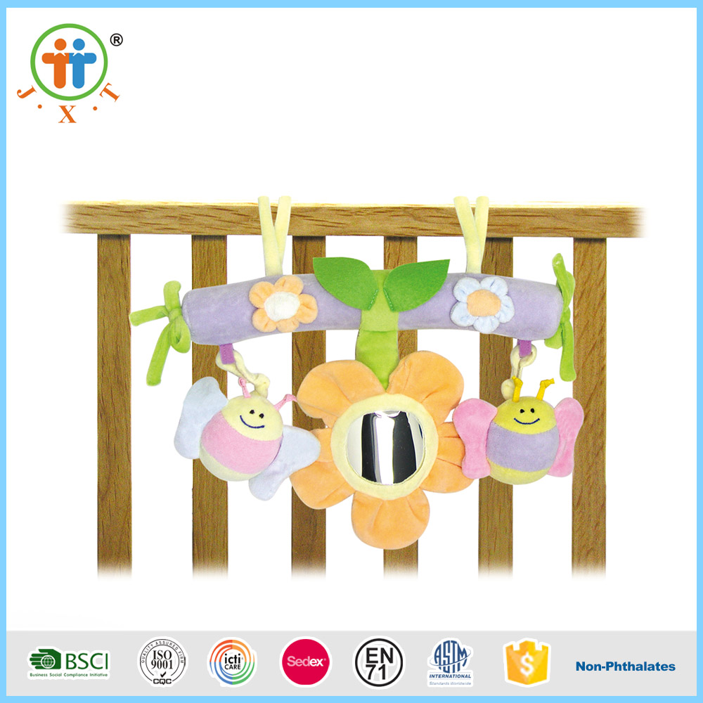 Popular funny safety baby bed hanging soft toy flower with low price