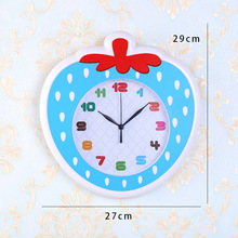 Hot sell plastic apple shape number decorative wall clock , new design wall clock home decor