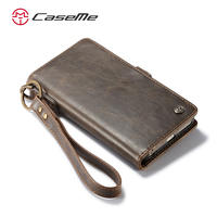 CaseMe Luxury Detachable Slim Wallet Case For iphone 6 6s Plus Card holder Case For Samsung galaxy S7 S7 Edge S8 Plus