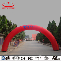 advertising red color inflatable rainbow arch