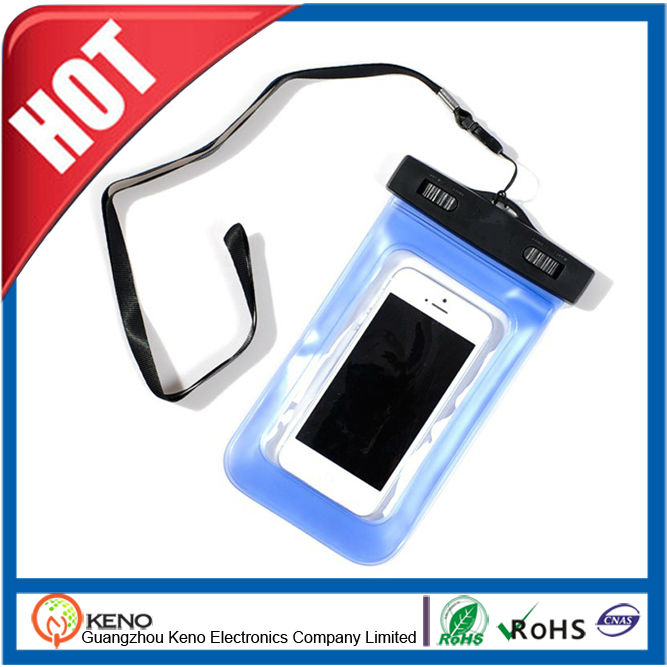 universal clip pvc phone waterproof case for <strong>apple</strong> for iphone 5, galaxy s3, htc one x, galaxy note 2