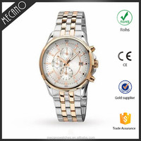 Men's Chronograph Stainless Steel Case Watch OEM Automatic Japan Movt Watches Fashion Western wristwatch