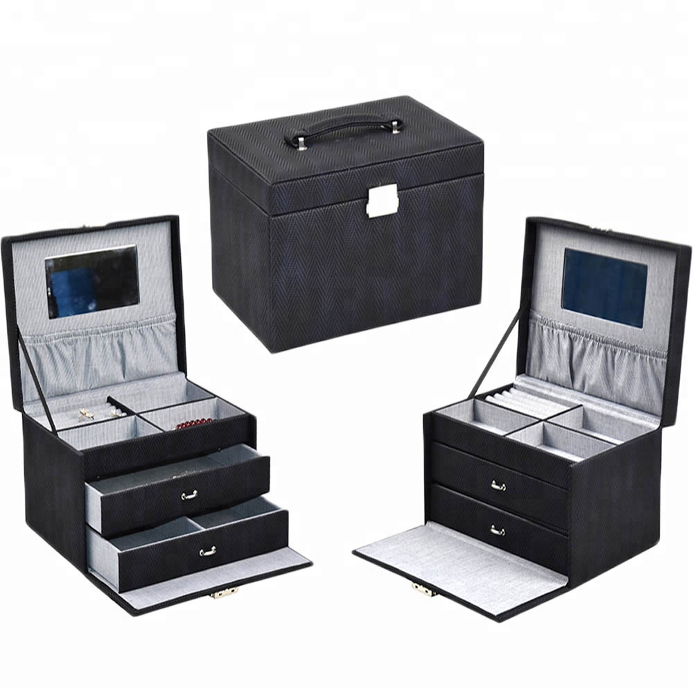 Wholesale high quality individual custom logo luxury gift multi-drawer jewelry box for women