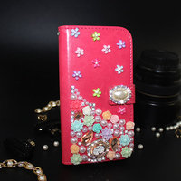 DIY Handmade Sparkling 3D Crystal Rhinestones Diamond Wallet Leather Case For Samsung Galaxy J3 Pro Bling Bling Case