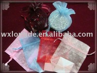 organza wedding favor/jewelry/gift bags/pouches with a square bottom