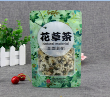 High quality colorful zip lock bag stand up pouch tea package