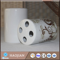 factory price food safe sublimation blank ceramic toothbrush holder