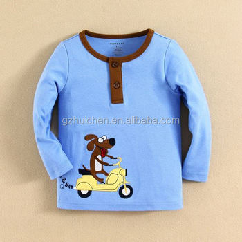 mom and bab 2015 Wholesale Embroideried Baby Boy T-shirt