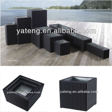 Various outdoor pretty synthetic rattan wicker garden flower pots and planter