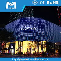 advertising board/building facade decorating led flexible display