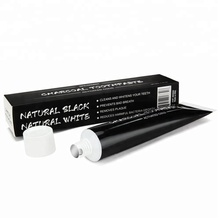 80g FDA 100 nature coconut shell teeth whitening charcoal toothpaste