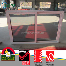 2 Sashes Slide opening small sliding windows with grey color glass