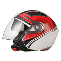 safty helmet JX-OP02 NEW design open face with double visor