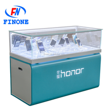 Wholesale glory sealed glass cell phone display cabinet display counter for Mobile Phone Store