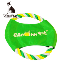 Yangzhou yingte high quality cotton rope frisbee pet outdoor toy