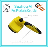 Top Selling Amazon Logo Printed Color Customized Pet Self Cleaning Slicker Brush for Dog and Cats