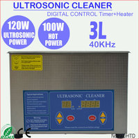 3L Portable Electronic Ultrasonic Silver Jewelry Cleaner Machine with Heater