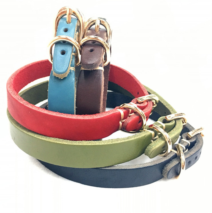 Pet supplies Plain Colorful Leather Small Animal Puppy Dog Cat Collar