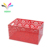 office home organizer tabletop desk top metal wire toy red storage basket matel basket