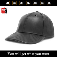 6 panel leather strap back hats with strap custom blank leather strap back hat wholesale