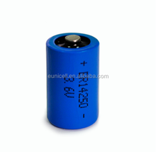 3.6V lithium battery 1/2AA ER14250 1200mAh Non recharge able batteries er14250