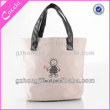Canvas tote bag logo embroidery bag providers guangzhou