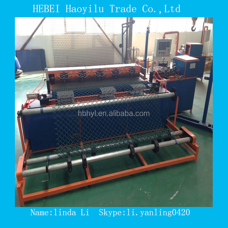 2M Width PLC Control Chain Link Fence Making Machine