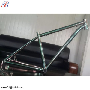 2018 new design cheap titanium alloy 3al2.5v road bike frame