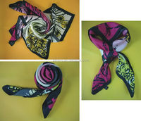 Top grade discount satin scarf for airline stewardess
