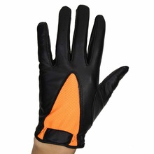 Fashion Design Regular Sizes Left Hand Black Goatkin Cabretta Leather Golf Glove