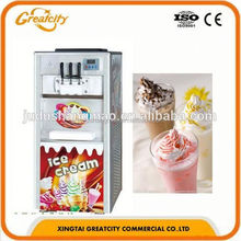 2015 hot sale commercial ice cream making machine with 3 flavors