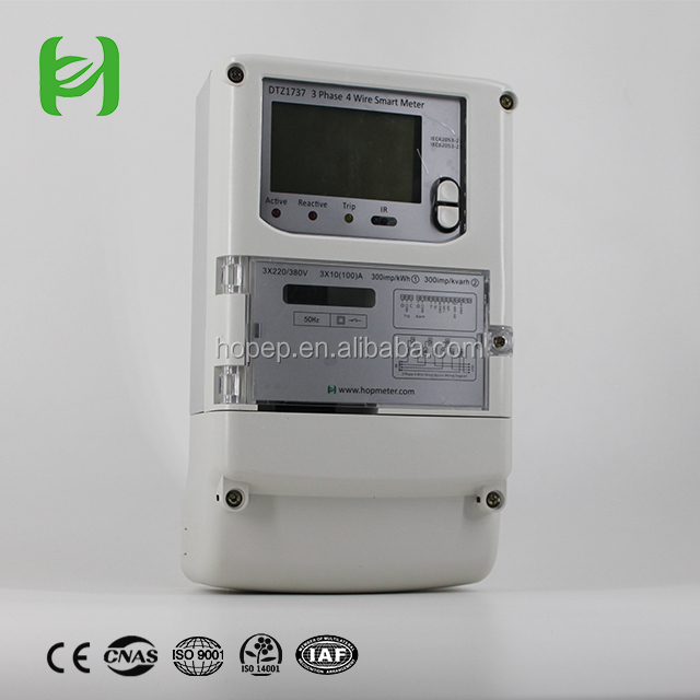 Three phase multi function wireless electric/energy kwh meters